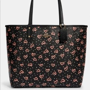 Coach Reversible Canvas Tote with Crayola Hearts